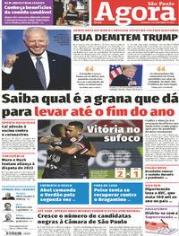 Capa do jornal Agora 08/11/2020