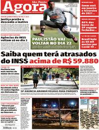 Capa do jornal Agora 09/07/2020