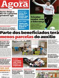 Capa do jornal Agora 09/09/2020