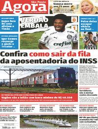 Capa do jornal Agora 09/11/2020