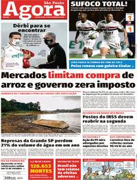 Capa do jornal Agora 10/09/2020