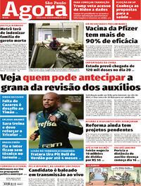 Capa do jornal Agora 10/11/2020