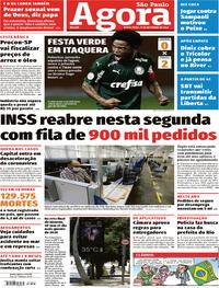 Capa do jornal Agora 11/09/2020