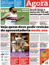 Capa do jornal Agora 11/10/2020