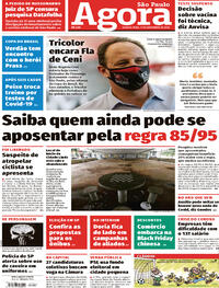 Capa do jornal Agora 11/11/2020