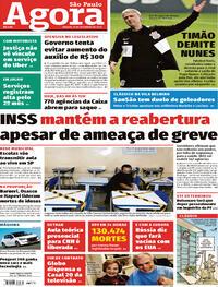 Capa do jornal Agora 12/09/2020