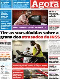 Capa do jornal Agora 13/09/2020