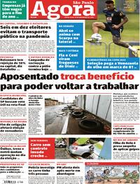 Capa do jornal Agora 13/11/2020