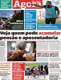 Capa do jornal Agora 14/09/2020