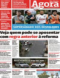 Capa do jornal Agora 14/11/2020