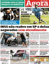 Capa do jornal Agora 15/09/2020