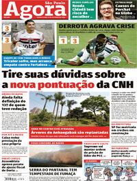 Capa do jornal Agora 15/10/2020