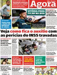 Capa do jornal Agora 16/09/2020
