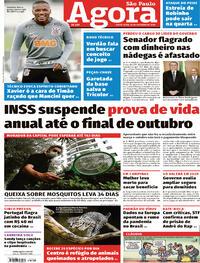Capa do jornal Agora 16/10/2020
