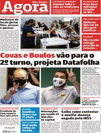 Capa do jornal Agora 16/11/2020