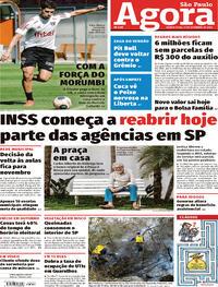 Capa do jornal Agora 17/09/2020