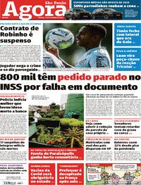Capa do jornal Agora 17/10/2020