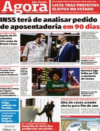 Capa do jornal Agora 17/11/2020