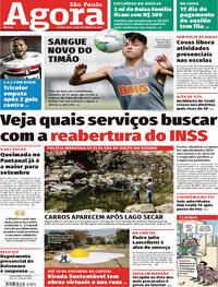 Capa do jornal Agora 18/09/2020