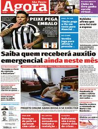 Capa do jornal Agora 18/10/2020