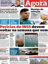 Capa do jornal Agora 19/09/2020