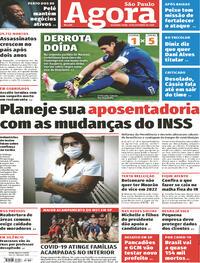 Capa do jornal Agora 19/10/2020