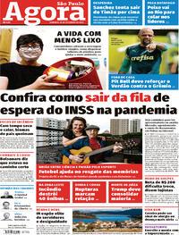 Capa do jornal Agora 20/09/2020