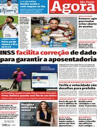Capa do jornal Agora 21/09/2020
