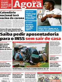 Capa do jornal Agora 21/10/2020