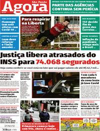 Capa do jornal Agora 22/09/2020