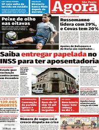 Capa do jornal Agora 24/09/2020