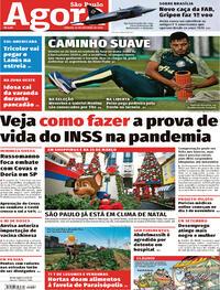 Capa do jornal Agora 24/10/2020