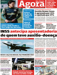 Capa do jornal Agora 25/09/2020