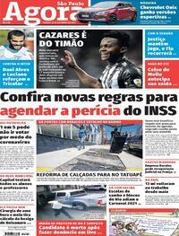 Capa do jornal Agora 26/09/2020