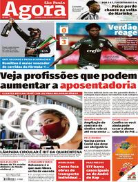 Capa do jornal Agora 26/10/2020