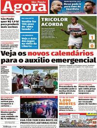 Capa do jornal Agora 27/08/2020