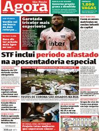 Capa do jornal Agora 27/10/2020