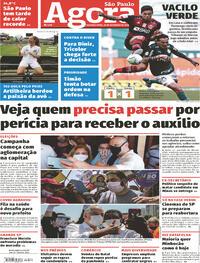 Capa do jornal Agora 28/09/2020