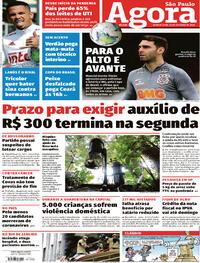 Capa do jornal Agora 28/10/2020