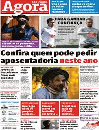 Capa do jornal Agora 30/08/2020