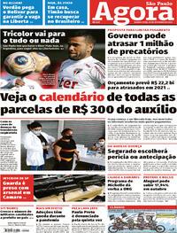 Capa do jornal Agora 30/09/2020