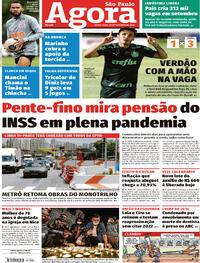 Capa do jornal Agora 30/10/2020