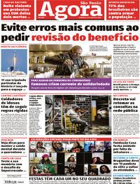 Capa do jornal Agora 31/05/2020