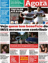 Capa do jornal Agora 31/08/2020