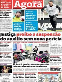 Capa do jornal Agora 03/08/2021