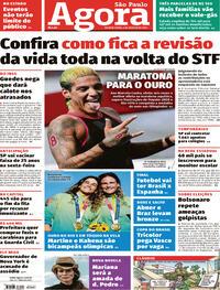 Capa do jornal Agora 04/08/2021