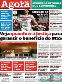 Capa do jornal Agora 15/10/2021