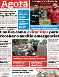 Capa do jornal Agora 16/04/2021