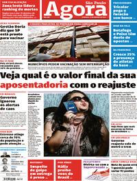 Capa do jornal Agora 17/01/2021