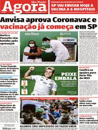 Capa do jornal Agora 18/01/2021